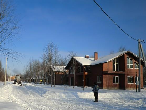 Зима в коттеджном поселке «Лесное Манихино»